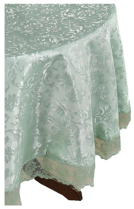 Скатерть KARNA LEDA с гипюром овальная 160Х220 2787 160х220