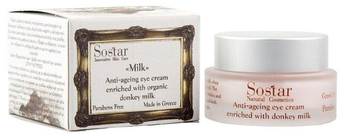 Крем Sostar Natural Cosmetics donkey milk для глаз 30 мл