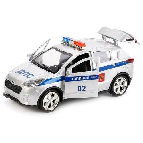 Купить Легковой автомобиль ТЕХНОПАРК Kia Sportage Полиция (SPORTAGE-POLICE) 12 см белый, Машинки и техника
