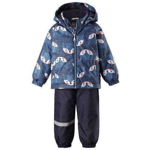 Купить Комплект с полукомбинезоном Lassie размер 92, 6951 синий, Комплекты верхней одежды
