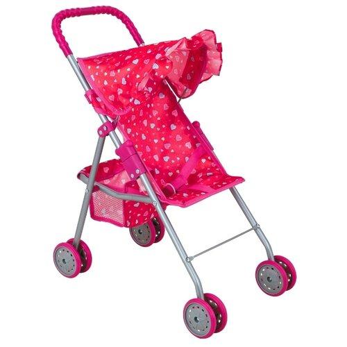 Прогулочная коляска Buggy Boom Mixy (8006) розовый/сердечки buggy boom коляска для кукол buggy boom infinia трансформер салатовая