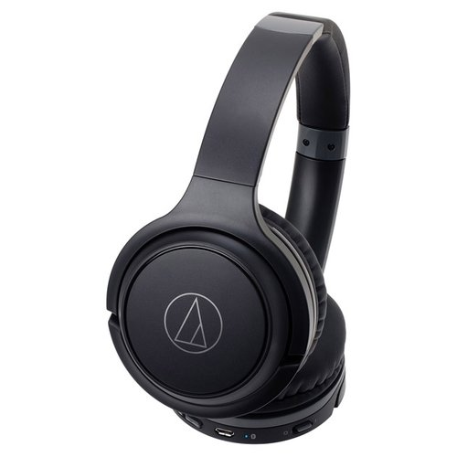 Наушники Audio-Technica ATH-S200BT черный/серый наушники audio technica ath s200bt grey blue