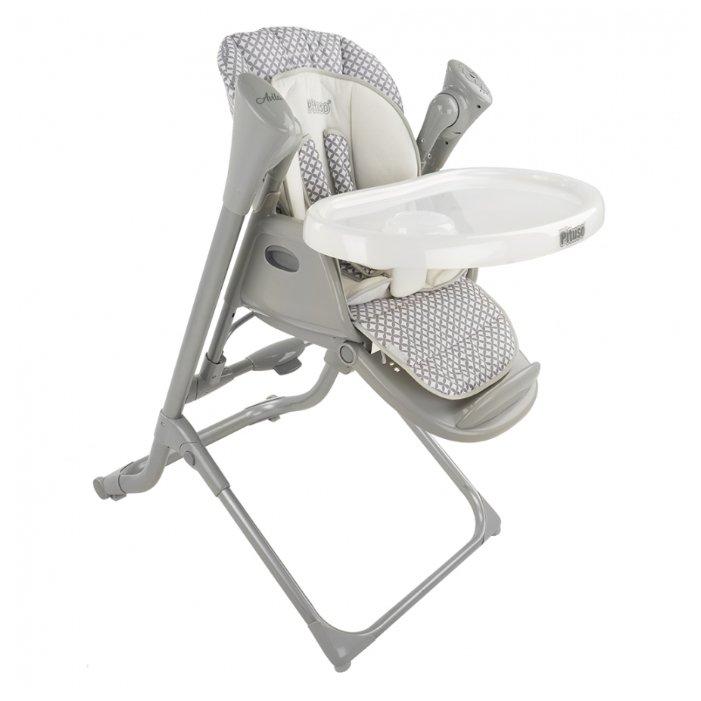 Стульчик-шезлонг-качели Pituso Avila ткань с пропиткой grey & white