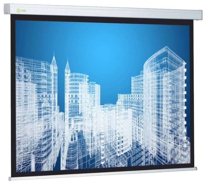 Рулонный матовый белый экран cactus Wallscreen CS-PSW-183x244
