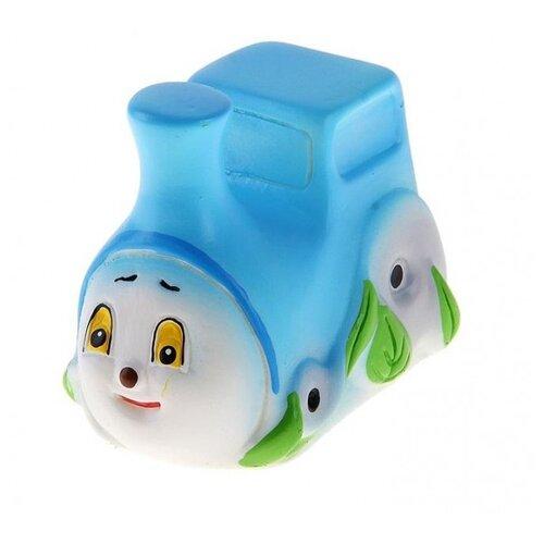 Купить Игрушка для ванной Кудесники Паровозик большой (СИ-433) белый/голубой, Игрушки для ванной