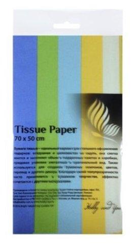 Цветная бумага тишью Полевые цветы Хобби и Ты, 50x70 см, 5 л., 5 цв.