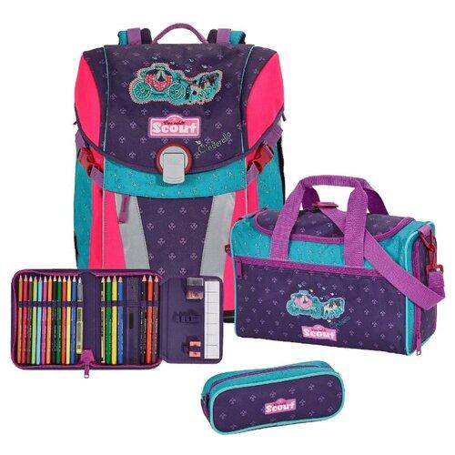 Купить Scout Ранец с наполнением SUNNY EXKLUSIV 4 предмета, cinderella, Рюкзаки, ранцы