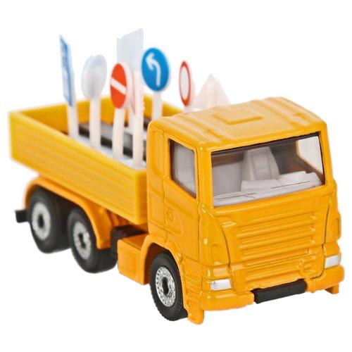 Купить Грузовик Siku с дорожными знаками (1322) 1:87 7.7 см желтый, Машинки и техника