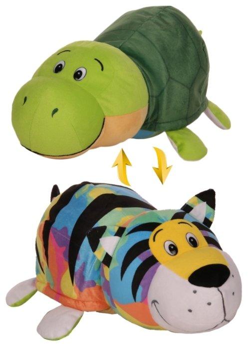 Мягкая игрушка 1 TOY Вывернушка Радужный тигр-Черепаха 20 см