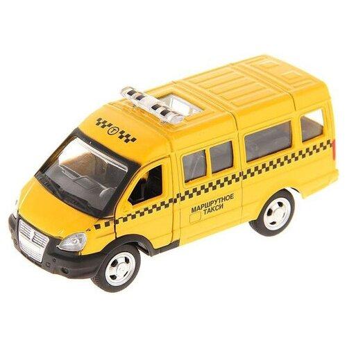 Купить Микроавтобус ТЕХНОПАРК ГАЗель Маршрутное такси (X600-H09034-R) 11 см желтый, Машинки и техника