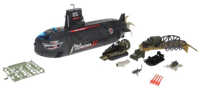 Игровой набор Chap Mei Micro Soldiers - Подводная лодка с наполнением 524052
