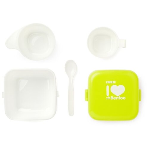 Комплект посуды Farlin Bentoo для еды (AEF-B008) желтый набор щеток farlin bf 118a blue
