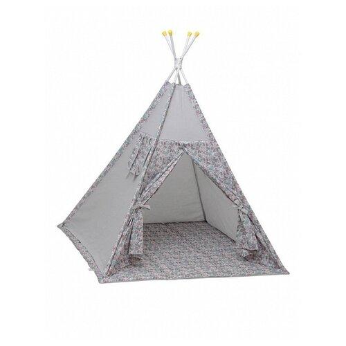 цена Палатка Polini Последний богатырь (Принцесса) серый онлайн в 2017 году