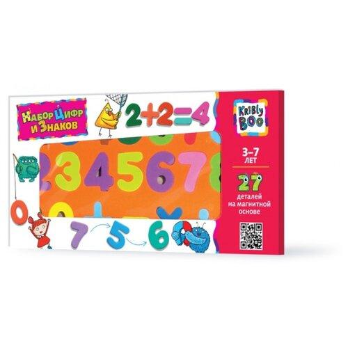 Купить Набор цифр Kribly Boo обучающий магнитный 47074, 27 элементов, Обучающие материалы и авторские методики