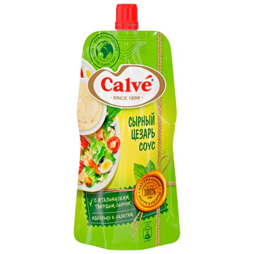 Соус Calve Сырный цезарь, 230 г яйцерезка calve