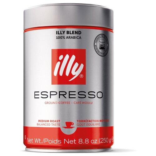 Кофе молотый Illy Espresso средняя обжарка, 250 г illy espresso кофе молотый темной обжарки 125 г