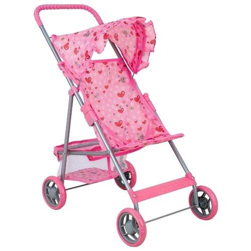 Купить Прогулочная коляска Buggy Boom Mixy (8008) светло-розовый/сердечки, Коляски для кукол