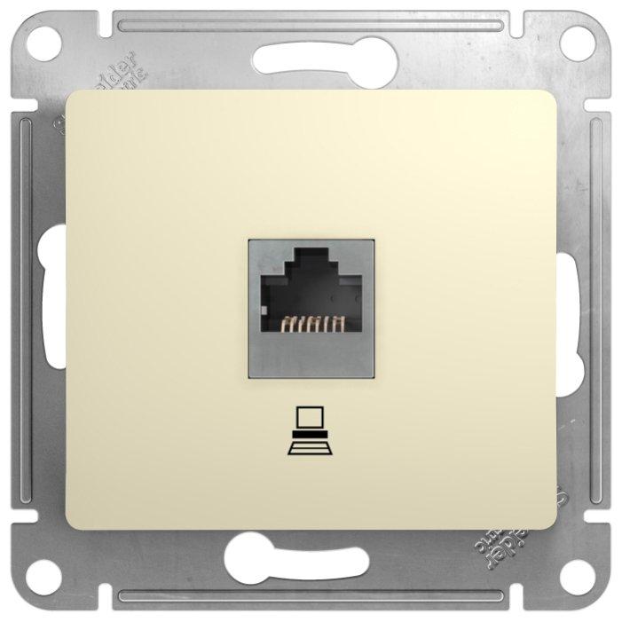Розетка для интернета / телефона Schneider Electric GLOSSA GSL000281K , бежевый