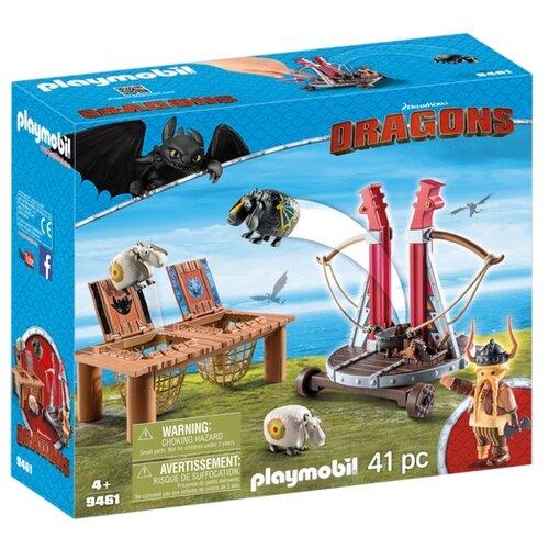 цены Набор с элементами конструктора Playmobil Dragons 9461 Плевака и Вепр