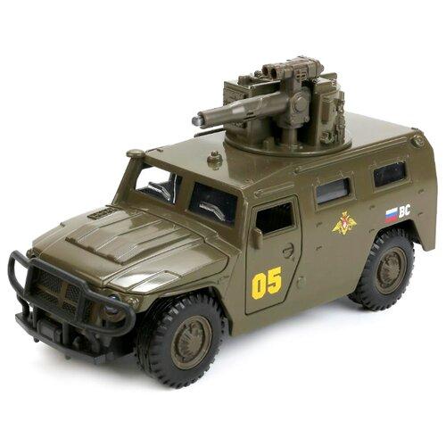 Внедорожник ТЕХНОПАРК ГАЗ 2330 Тигр Вооруженные силы (CT12-392-G2) 1:43 27 см зеленый