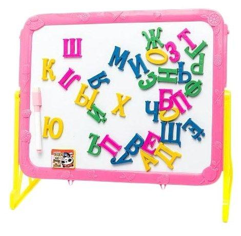 Доска для рисования детская Amico магнитная с русскими буквами (32620)