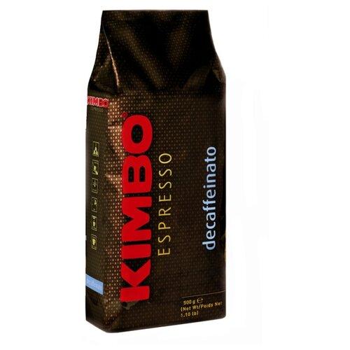 Кофе в зернах Kimbo Decaffeinato, арабика, 500 г цена 2017
