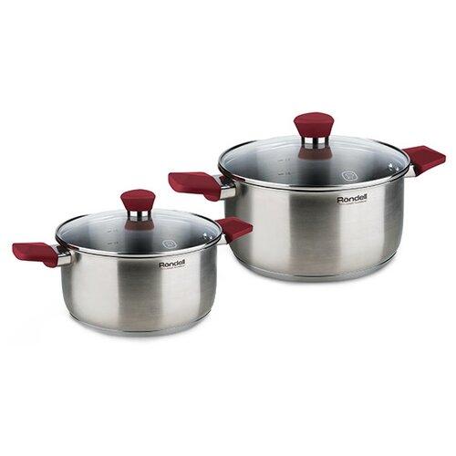 Набор кастрюль Rondell Strike RDS-816 4 пр. стальнойНаборы посуды для готовки<br>