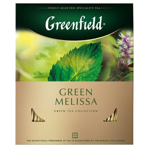 Чай зеленый Greenfield Green Melissa в пакетиках, 100 шт.