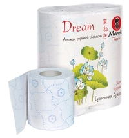 Туалетная бумага Maneki Dream Аромат утренней свежести белая трёхслойная 4 шт.