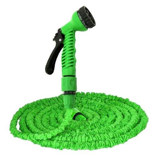 Комплект для полива XHOSE Magic Hose 60 метров (с распылителем) зеленый комплект для полива xhose magic hose 45 метров с распылителем зеленый
