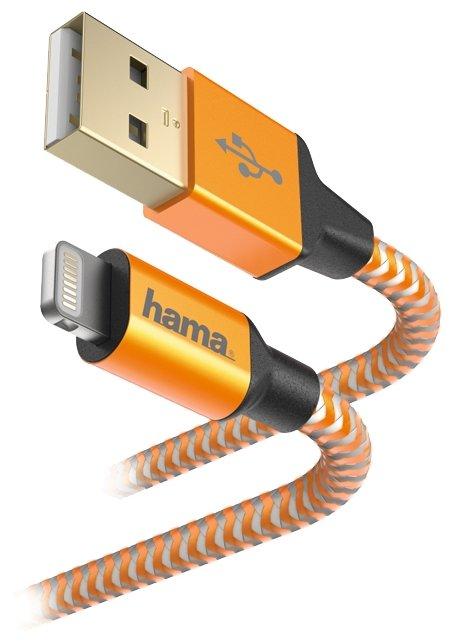 Кабель HAMA USB - Apple Lightning Reflective 1.5 м