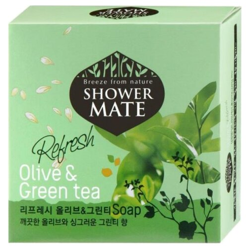 Мыло кусковое Shower Mate Olive & Green tea 100 гМыло<br>