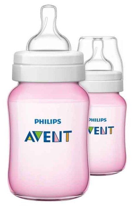 Philips AVENT Бутылочки полипропиленовые Classic+ SCF563/27, SCF564/27, SCF565/27 260 мл, 2 шт. с 1 мес.