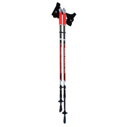 Палка для скандинавской ходьбы 2 шт. ECOS Телескопические Алюминиевые AQD-B012B красно-черныйПалки<br>