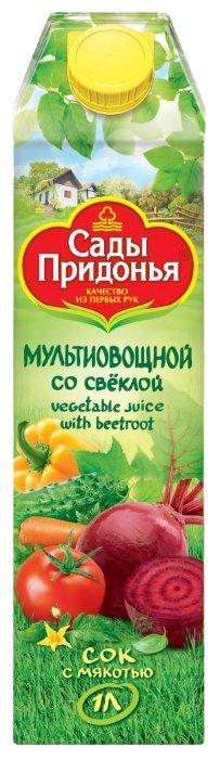 Сок с мякотью Сады Придонья Мультиовощной со свеклой, 1 л