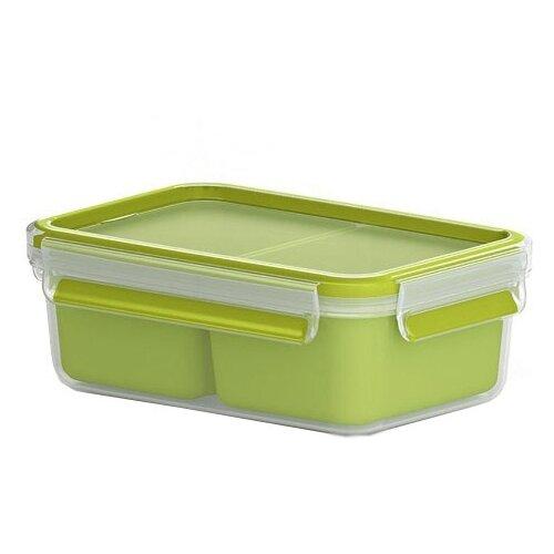 EMSA Контейнер для перекусов 518101 зеленый/прозрачный фляжка для питья детская 0 4л emsa