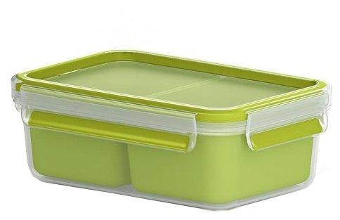 EMSA Контейнер для перекусов 518101 зеленый/прозрачный
