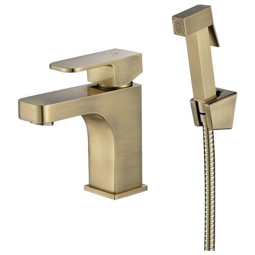 Смеситель для раковины (умывальника) KAISER Sonat 34088-1 bronze однорычажный лейка в комплекте смеситель для раковины kaiser cross 41011 1