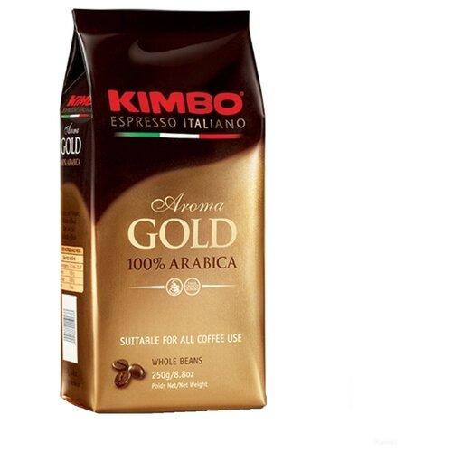 Кофе в зернах Kimbo Aroma Gold Arabica, арабика, 250 г кофе в зернах kimbo aroma gold 100% arabica 250 г