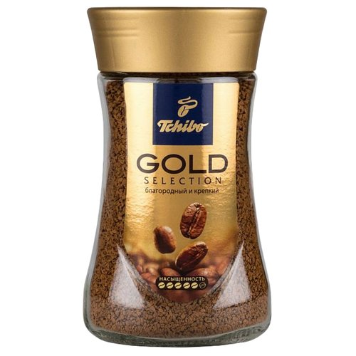 Кофе растворимый Tchibo Gold Selection, стеклянная банка, 47.5 г tchibo exclusive decaf кофе растворимый 100 г