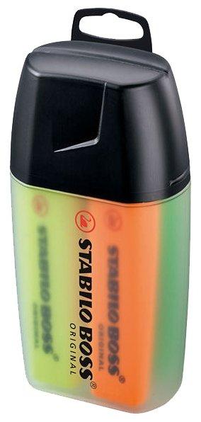 STABILO Настольный набор маркеров BOSS, 4 цвета (7004-3)