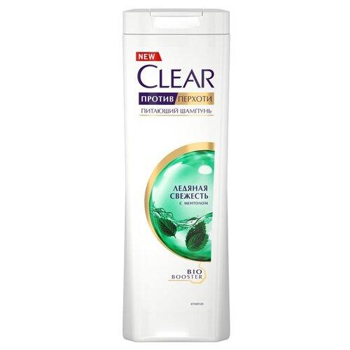 Clear шампунь против перхоти для женщин питающий Ледяная свежесть с ментолом 400 мл эффективный шампунь от перхоти для женщин