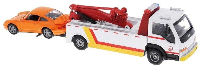 Набор машин ABtoys Спецтехника с легковым автомобилем (C-00152) 1:50 15 см