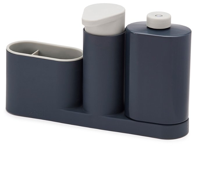 Органайзер для раковины с дозатором для мыла и бутылочкой Joseph Joseph SinkBase Plus, бело-зеленый
