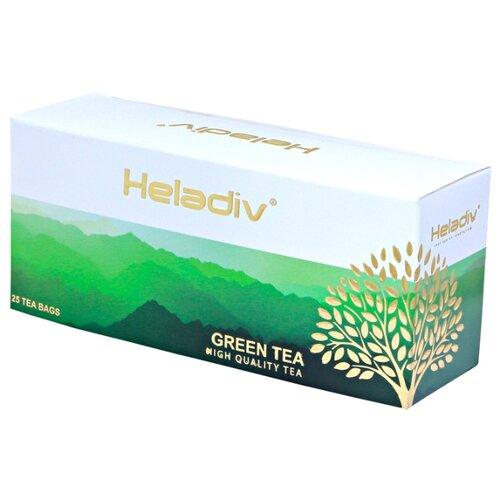 Чай зеленый Heladiv в пакетиках, 25 шт. чай зеленый императорский чай collection china yunnan в пакетиках 25 шт