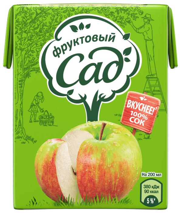 Сок Фруктовый сад Яблоко осветленное, без сахара