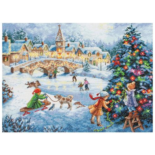 Купить Dimensions Набор для вышивания Winter Celebration (Праздник зимы) 38, 1 х 27, 9 см (70-08919), Наборы для вышивания