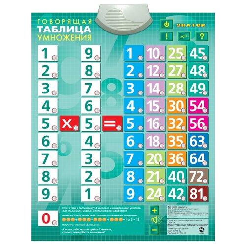 Электронный плакат Знаток Говорящая таблица умножения 70024 электронный звуковой плакат знаток говорящая таблица умножения 70024