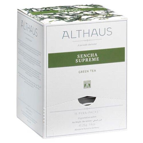 Чай зеленый Althaus Sencha Supreme в пирамидках , 15 шт. newby hunan green зеленый чай в пирамидках 15 шт