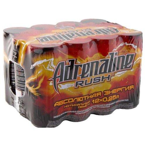 Энергетический напиток Adrenaline Rush, 0.25 л, 12 шт.